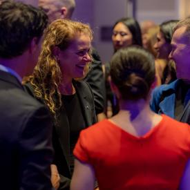 The Governor General speaking with guests of the LIMITLESS: Special Olympics Gala.