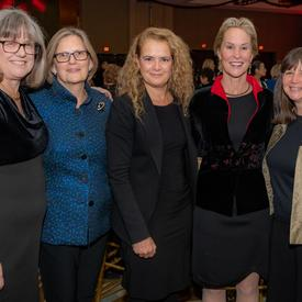 A photo of the Governor General with IWF members.