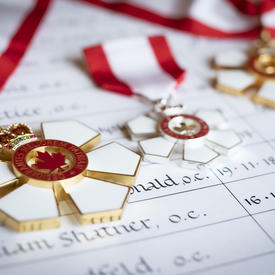 A photo of Order of Canada medals.