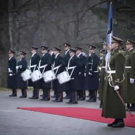 A guard of honour.