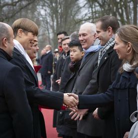 La présidente Kersti Kaljulaid a rencontré la délégation canadienne.