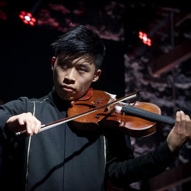 Canadian violinist Kerson Leong is performing.