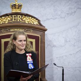 La gouverneure générale a prononcé le discours du Trône.
