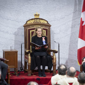 The Governor General delivered the speech from the throne.