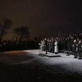 Canadians gather during the Polytechnique commemorative ceremony.
