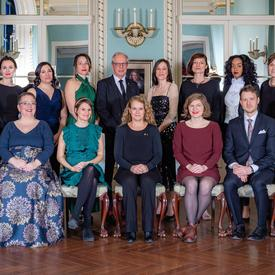 A group photo of all of the recipients.