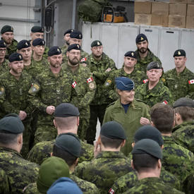 Governor General Payette visits CAF members serving on Op REASSURANCE in Latvia
