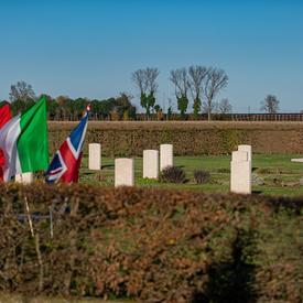 Photo of the Villanova Canadian War Cemetery.