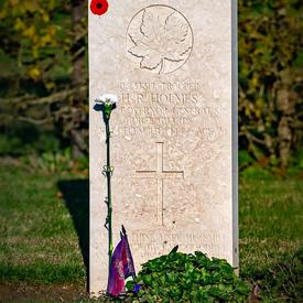 A tomb of a Canadian soldier.