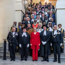 The Governor General posed for a photo with the Speakers and Presiding Officers of the Commonwealth.