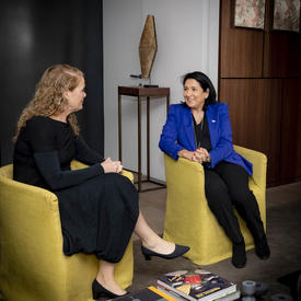 The Governor General meets with the President of Georgia, Salome Zourabichvili.