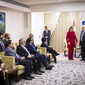 The Governor General and President Rivlin meet with members of the delegation.