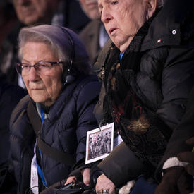 Survivors sitting in the audience.