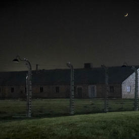 Photo of a building in Auschwitz.