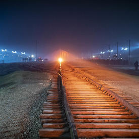 Photo of the railroad tracks.