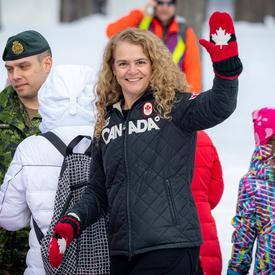 La gouverneure générale du Canada a eu l'occasion de rencontrer des participants et des partenaires de l'événement.