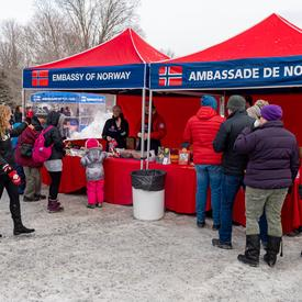 Visitors walked around the grounds and discovered how different countries embrace the coldest months of the year by enjoying traditional foods and activities.
