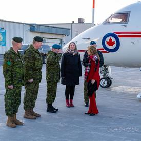 The Governor General arrives in CFB Trenton.