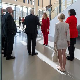 The Governor General meets with faculty members at Simon Fraser University.