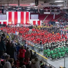 A photo of all the athletes during the Special Olympics Canada Winter Games Thunder Bay 2020 Opening Ceremony.