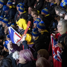 Supporters cheer on athletes at the Special Olympics Canada Winter Games Thunder Bay 2020 Opening Ceremony.