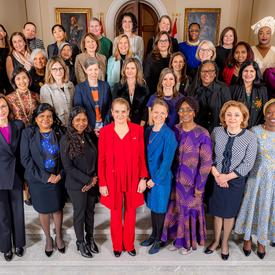 A group photo with all the women who participated in the event.