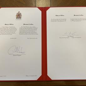 Official signed documents.