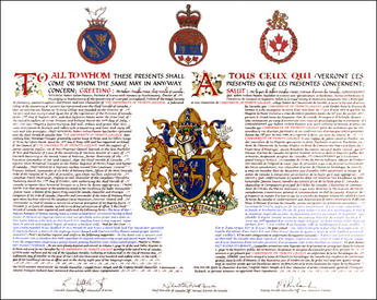 Letters Patent registering the Armorial Bearings of The University of Trinity College