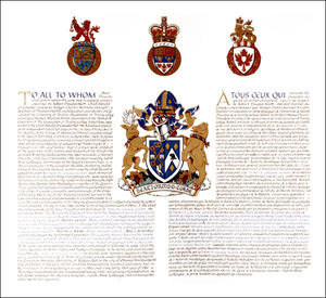 Letters Patent granting Armorial Bearings to Trinity College School