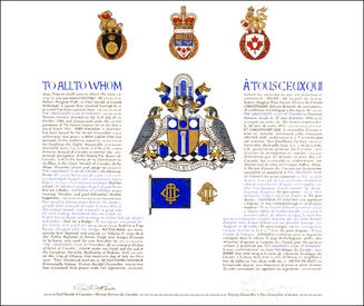 Letters Patent grantig Armorial Bearings to The University Club of Toronto