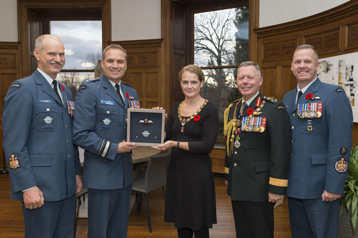 Presentation of Astronaut Wings @Rideau Hall