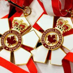 Order of Canada insignia.
