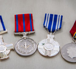 Photos of medals to be presented during the mixed honours awards ceremony at Rideau Hall.