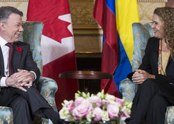 Visite d'État du président de Colombie