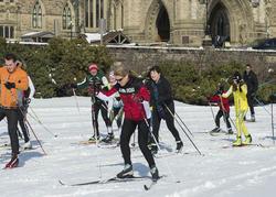 Ski de fond sur la Colline du Parlement