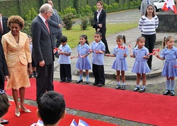 Accueil officiel au Costa Rica