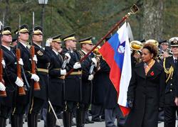 Cérémonie d'accueil en Slovénie