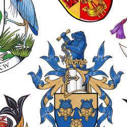 Demandez des armoiries, un drapeau, un insigne
