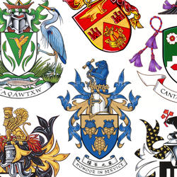 Collage of Canadian heraldic emblems