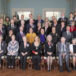 A group photo of the Order of Canada members