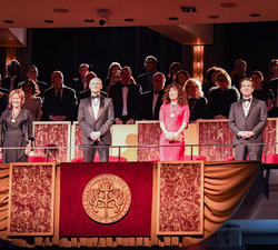 The 2019 Governor General's Performing Arts Awards recipients stood at their seat.