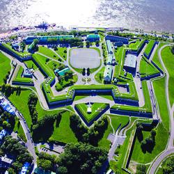 Vue aérienne de la Citadelle de Québec
