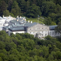 Aerial view of Rideau Hall