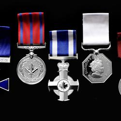 A picture of honours medals