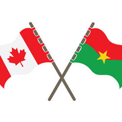 Flags of Canada and Burkina Faso