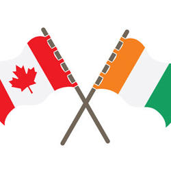 Flags of Canada and Côte d'Ivoire