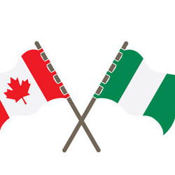 Flags of Canada and Nigeria