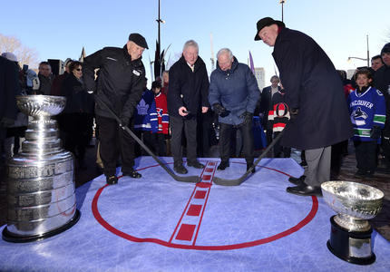 Groundbreaking of the Lord Stanley Monument