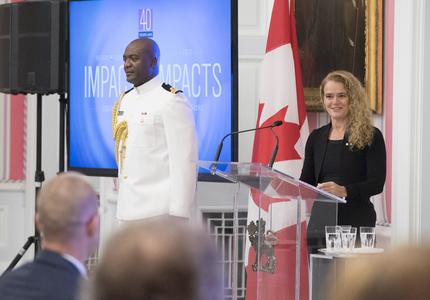 October, 3, 2018, the Governor General presented the 2018 Social Sciences and Humanities Research Council (SSHRC) Impact Awards during a ceremony at Rideau Hall.