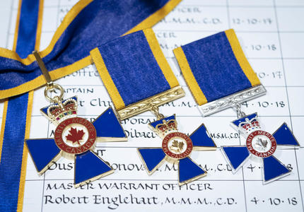 A picture of Order of Military Merit medals